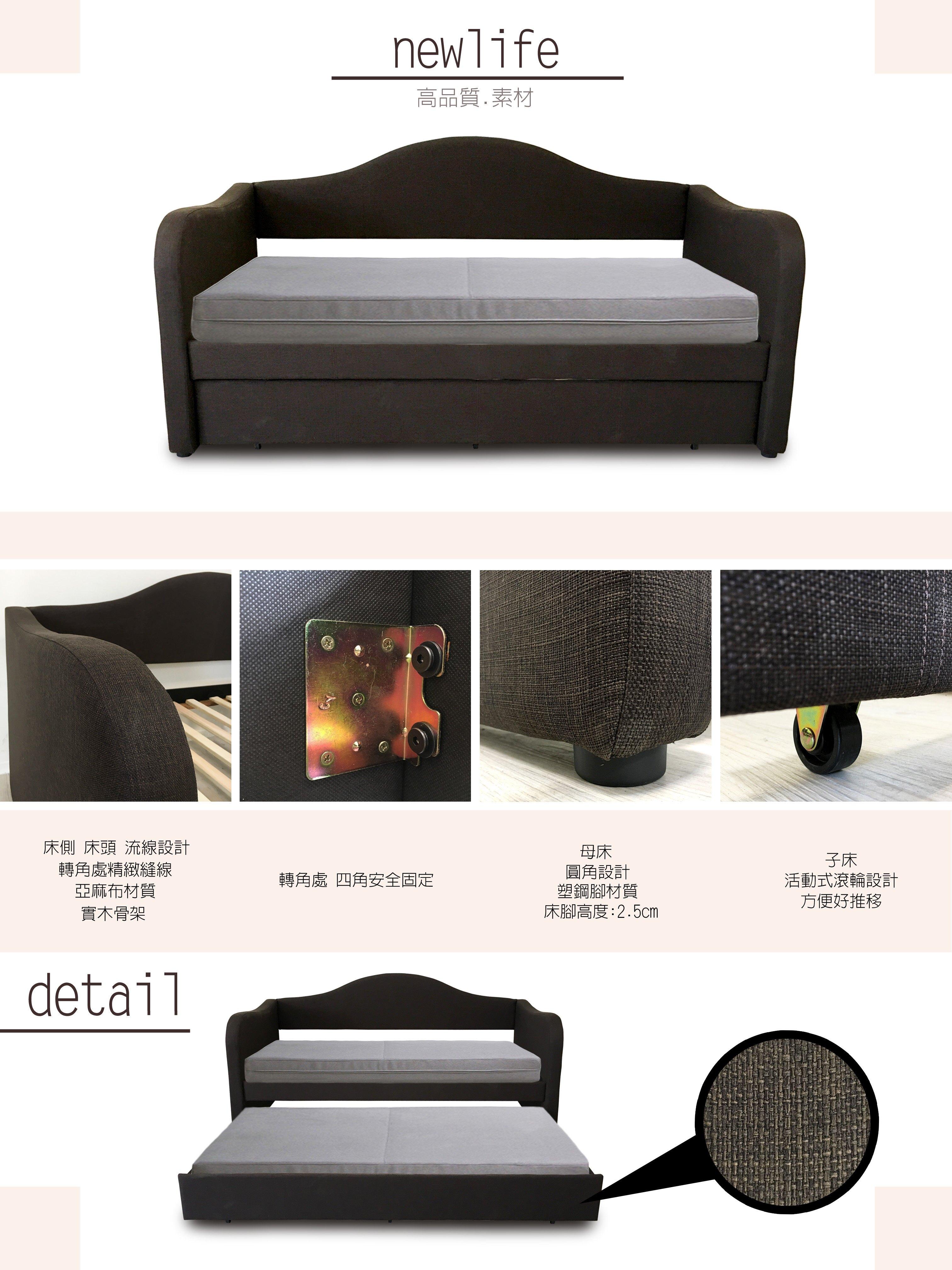 嵌入式 床架 雙層床 上下舖 兒童床 歐式 母子床 子床 母床 單人床 《舞動》 非 H&D ikea 宜家 !新生活家具! 樂天雙12