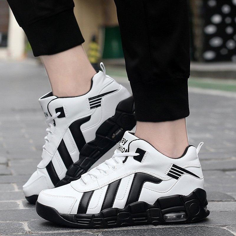 FINDSENSE品牌 秋冬款 新款 日本 男 高品質 個性  超纖 特大碼氣墊 舒適 繫帶板鞋 休閒鞋 潮流鞋子