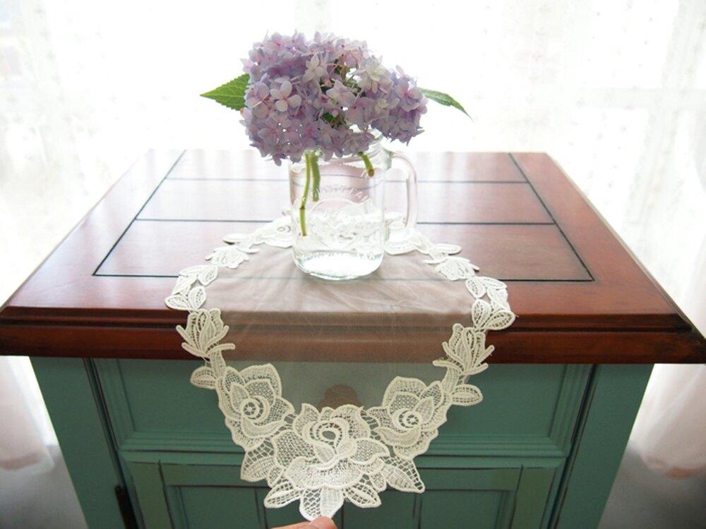 時尚蕾絲桌墊15  鏤空茶几布書桌布餐墊 蕾絲桌布 (38*25CM)