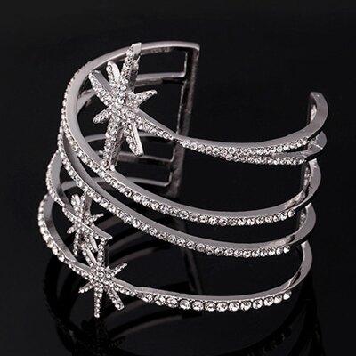 手環 鑲鑽歐美手鐲-閃亮星星設計生日情人節禮物女飾品73jn45【獨家進口】【米蘭精品】