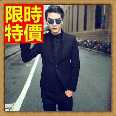 ☆毛呢外套 男西服-羊毛韓版修身單扣男西裝外套2色63af2【韓國進口】【米蘭精品】
