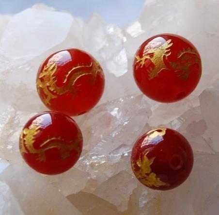 瑪瑙雕刻龍紋散珠 龍珠紅瑪瑙 黑瑪瑙散珠 瑪瑙圓珠熱賣10顆