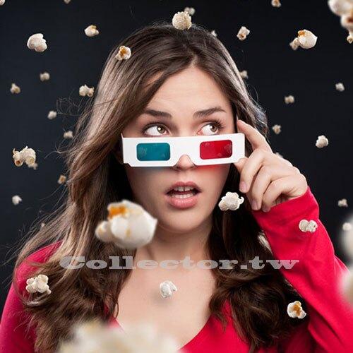 【超取399免運】紙製紅藍3D眼鏡 白紙卡3D立體眼鏡 3D電影專用眼鏡