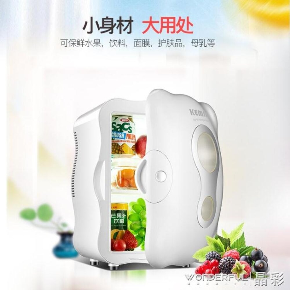 迷你冰箱 制冷小冰箱迷你小型家用寢室化妝品護膚面膜專用 220v JD 晶彩生活