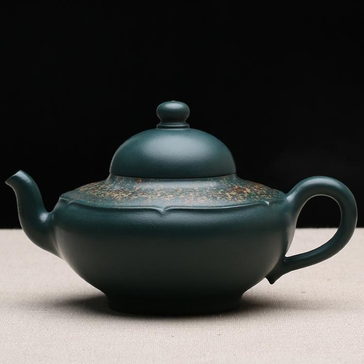 [超豐國際]新品 宜興名家純全手工紫砂壺 茶壺 整套功夫茶具原礦綠泥 收1入