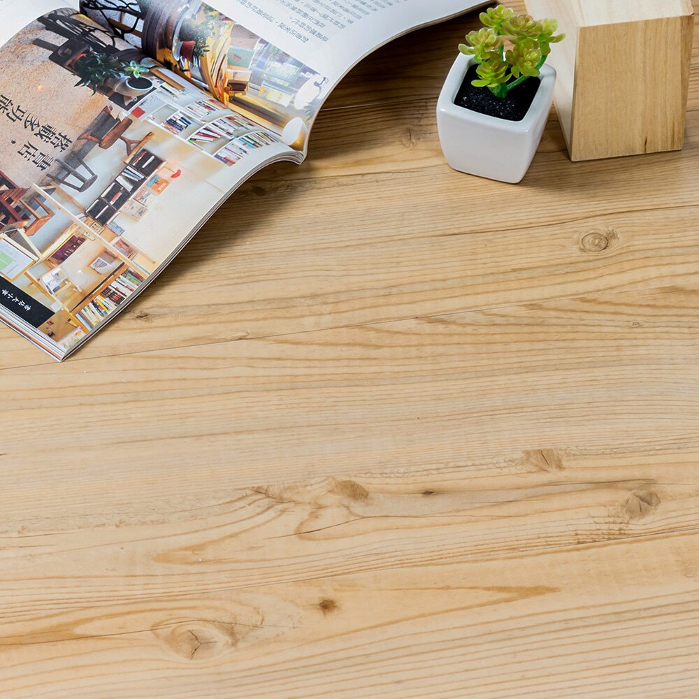 防水材質 地板貼 木紋地貼 PVC 地板貼紙-12片 阻燃防水耐磨地貼 約0.5坪【Q005-12】