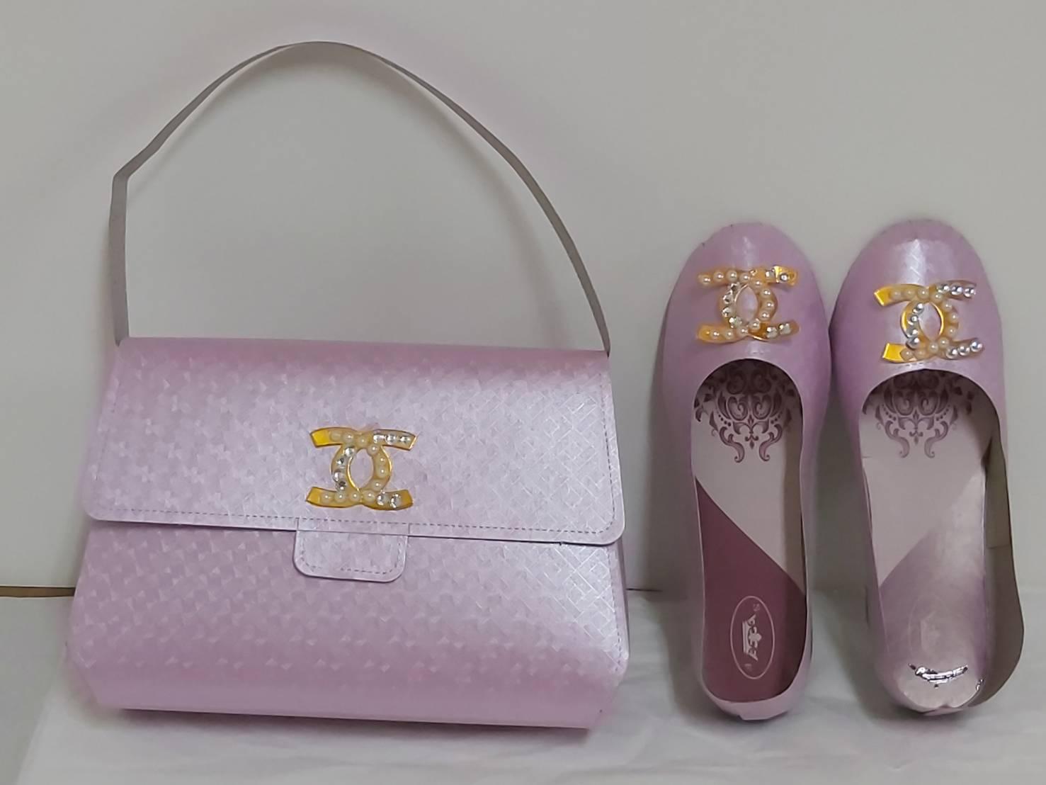 台製-香奈兒包+鞋-粉紅色