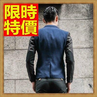 ☆毛呢外套 男西服-羊毛拼色修身單扣男西裝外套2色63af37【韓國進口】【米蘭精品】