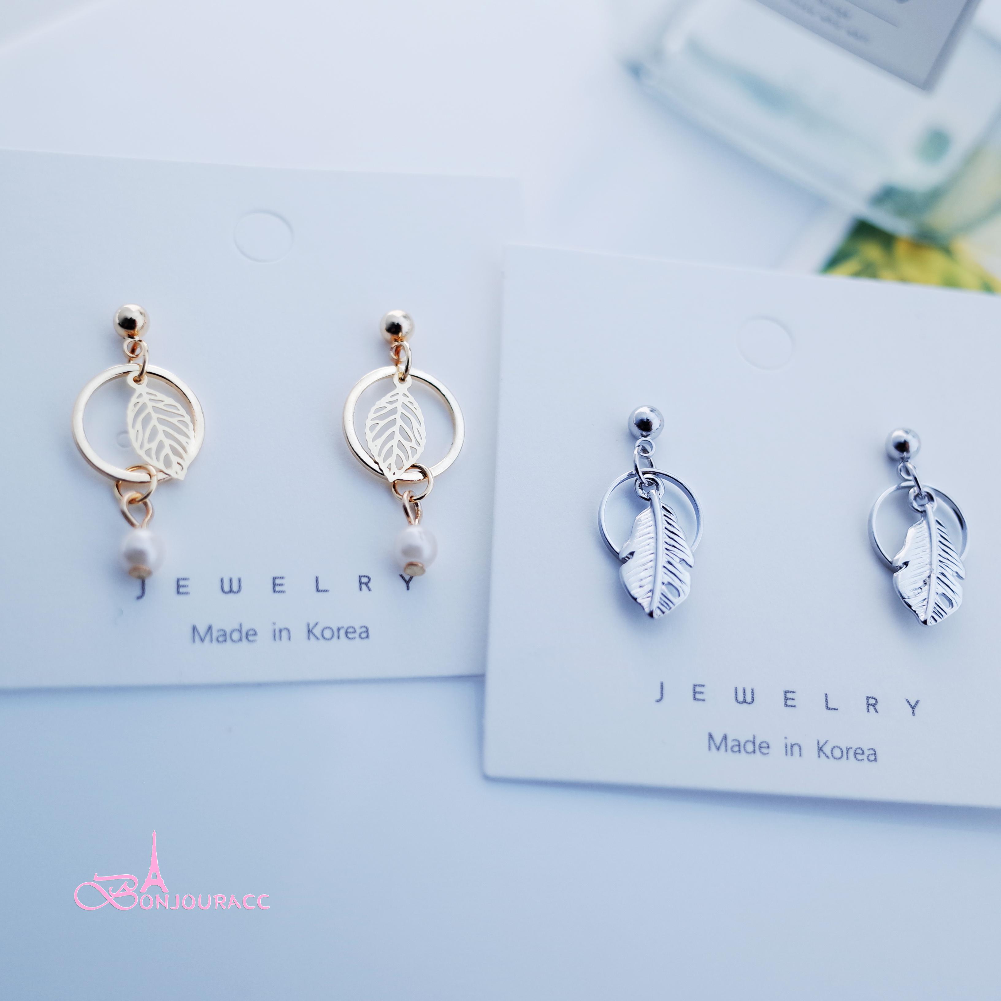 韓國 小圈系列 925銀針 針式 夾式 耳環 【Bonjouracc】