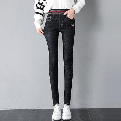 緊身高腰小腳牛仔褲(2色26-32)【OREAD】