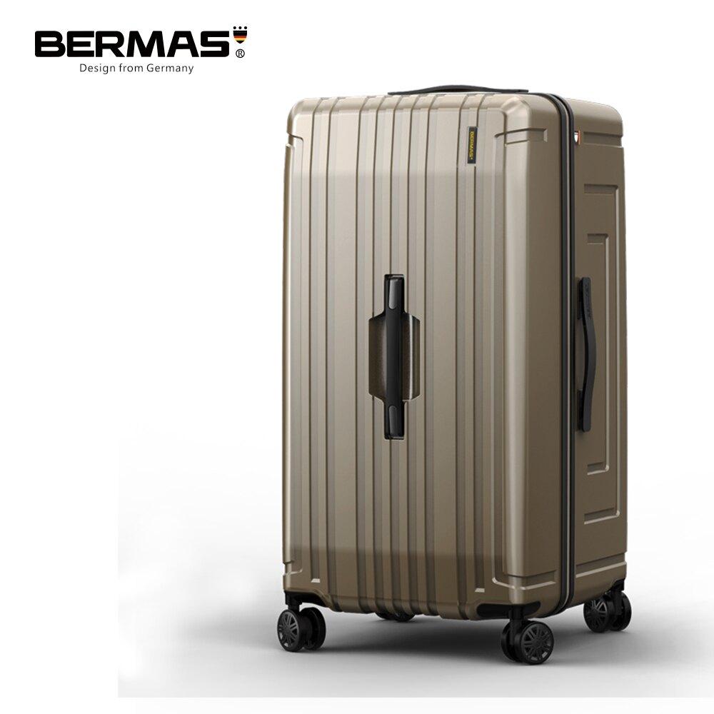 【旅遊旺季】BERMAS戰艦系列- 30吋超輕防刮大容量行李箱 槍色/鈦金色 黑色胖胖箱 大容量輕量 收納代購箱 超深下蓋 耐用穩固
