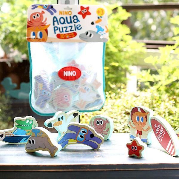 韓國 NINO 立體拼圖洗澡玩具 海底世界