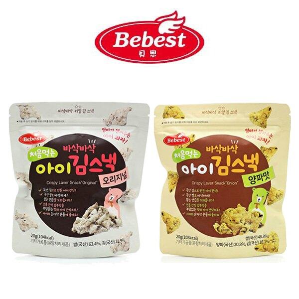 韓國 Bebest 貝思 寶寶海苔脆點心-原味/洋蔥20g【悅兒園婦幼生活館】
