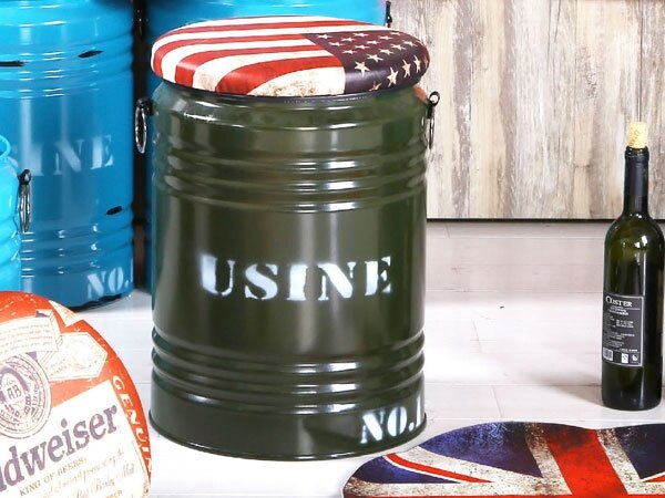 【YUDA】 美國 綠水桶 仿舊 大容量 收納椅凳 椅凳/收納椅/休閒椅 J8F 187-3