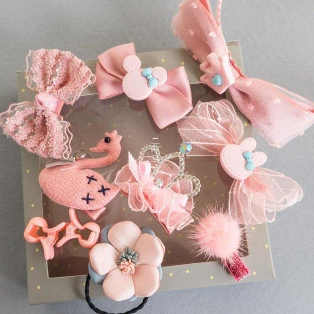 兒童頭飾 韓國兒童髮飾髮夾蝴蝶結髮箍禮盒可愛皇冠小公主寶寶髮卡頭飾品 唯伊時尚