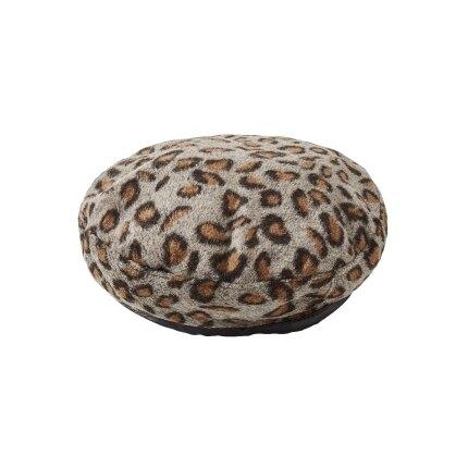 豹紋貝雷帽咖啡色/灰色 女帽 秋冬帽韓國最流行的豹紋貝雷帽-時尚帽款-現貨含運