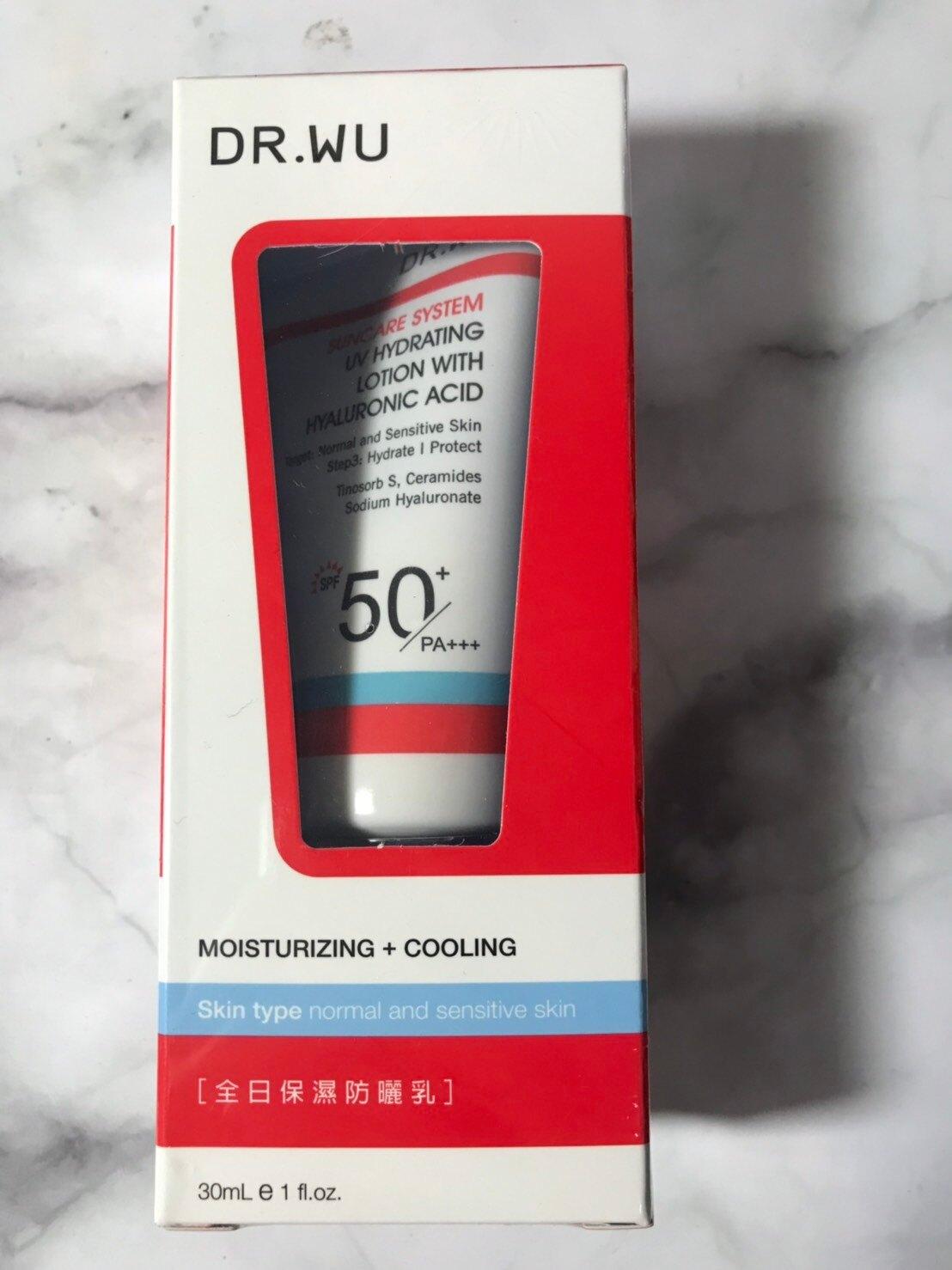 【DR. WU】 全日保濕防曬乳SPF50+-30ML 效期2022.03 可集點【淨妍美肌】