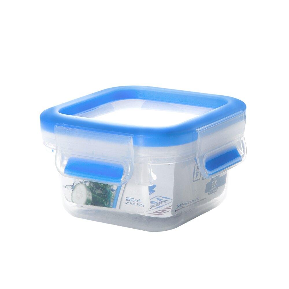 Tefal法國特福 德國EMSA原裝 無縫膠圈PP保鮮盒 250ML方型