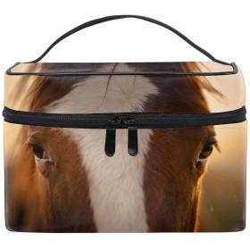 化粧ポーチ 大容量 かわいい おしゃれ 機能的 収納ケース 高品質動物の馬