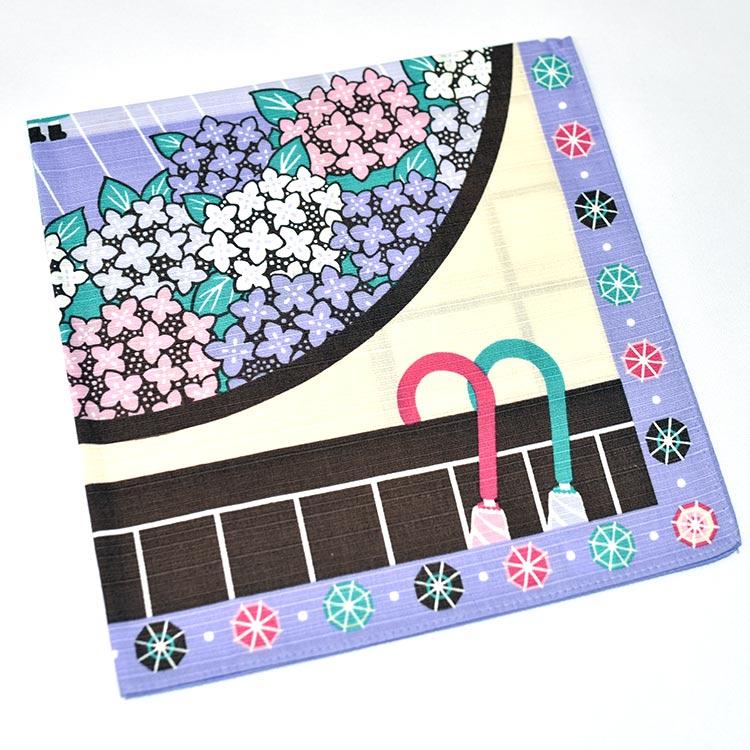 晴天娃娃 雨天花園 日本製 手拭 頭巾 包巾 掛軸 裱框 裝飾 100%綿