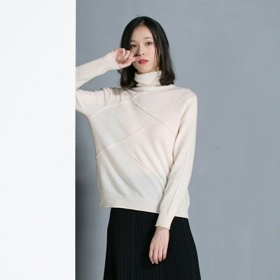 羊毛衫高領毛衣-純色套頭抗起球氣質女針織衫2色73uj4【獨家進口】【米蘭精品】
