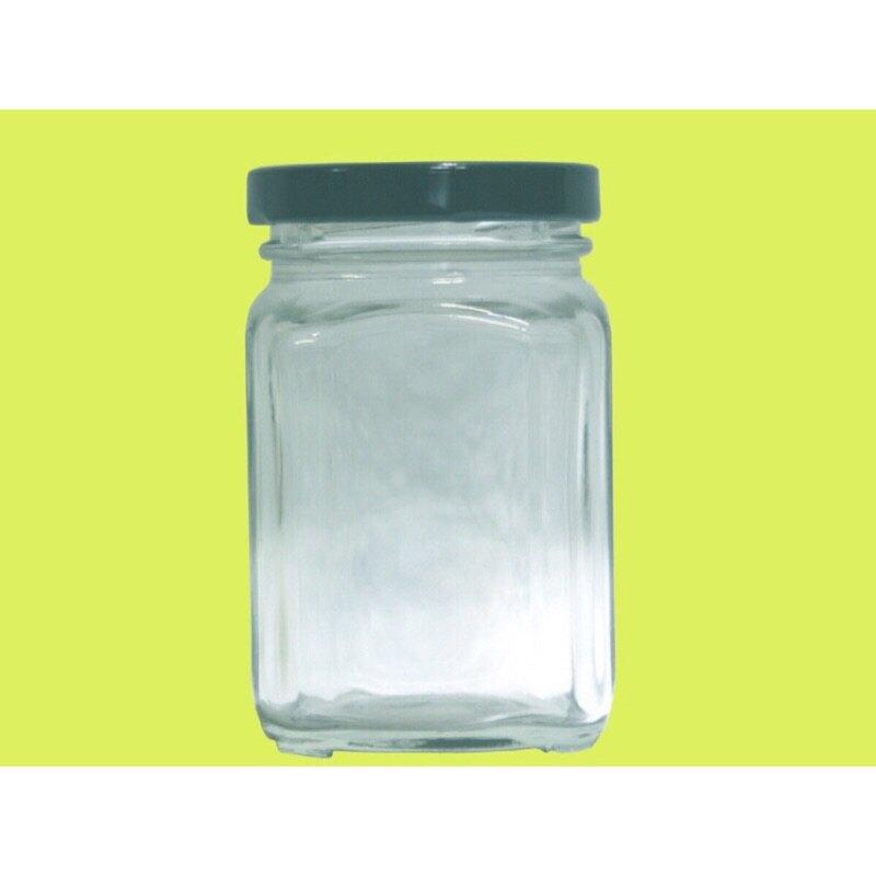 【嚴選SHOP】200 cc 四方瓶 四角玻璃瓶 儲物罐 透明罐 保鮮罐S4-200【T042】
