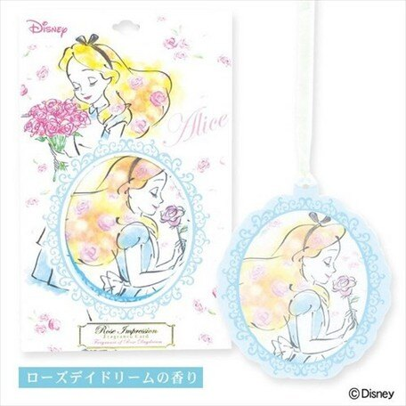 日本進口 Disney迪士尼 公主 香氛片 愛麗絲  朵加日貨