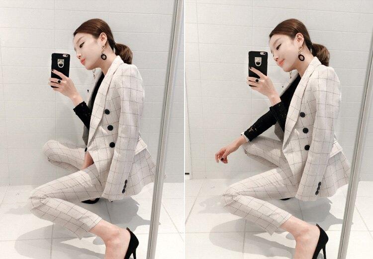西裝 雅痞雙排釦西裝外套+淺格紋西裝褲兩件式套裝 艾爾莎【TGK5645】