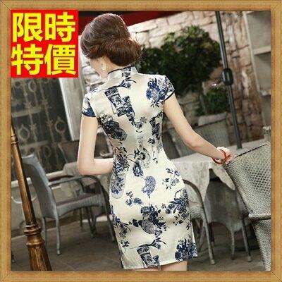 旗袍真絲短禮服-唐裝改良式復古中國風典雅連身裙68p31【獨家進口】【米蘭精品】