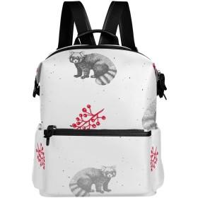 たぬき 動物 リュック 学生用 デイパック レディース 大容量 バックパック 男女兼用 機能性 大容量 防水性 デザイン 旅行 ブックバッグ ファション