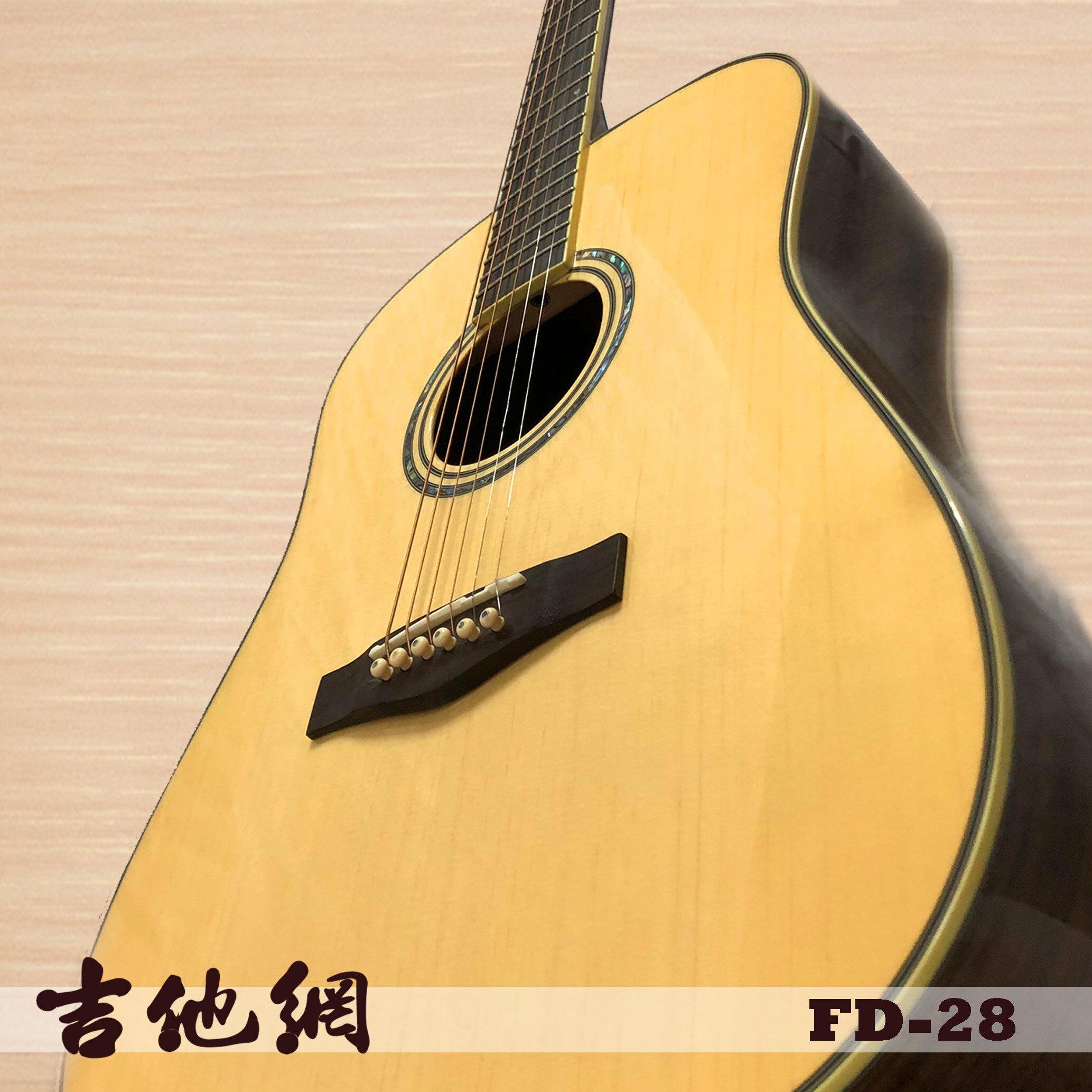 吉他網~Fina FD-28 D桶身41吋全單英格曼雲杉木高規格民謠吉他
