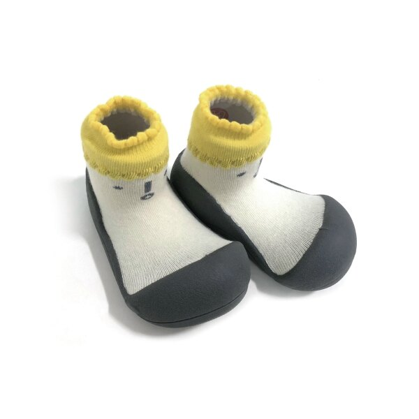 韓國 Attipas 快樂腳襪型學步鞋-北極熊灰底