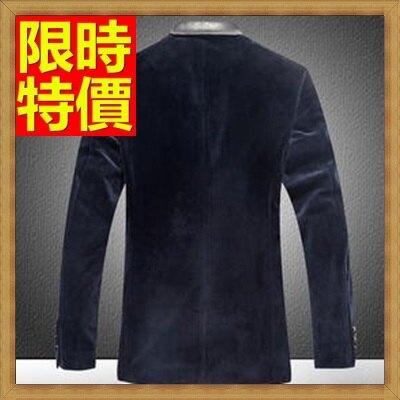 西裝外套男西服-金絲絨單排扣正規領型修身男外套1色65b6【獨家進口】【米蘭精品】