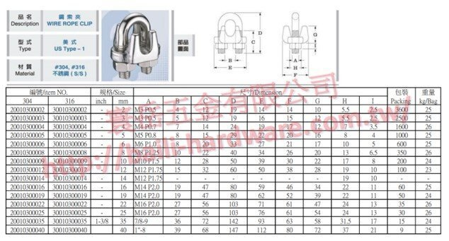 ST304 1分 1/8 3mm 不銹鋼鋼索夾 鋼索束 鋼索夾頭 鐵夾頭 鋼索固定夾 鋼
