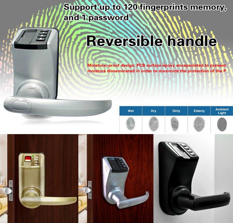 愛迪爾3398防盜鎖 指紋鎖(暗黑)門鎖 指紋密碼鎖 美國銷售第一感應鎖 電子鎖 數位智能鎖 水平鎖 板手鎖 水平把手鎖
