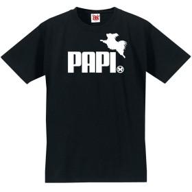 おもしろ Tシャツ アニマル 【パピヨン ジャンプ PAPI 】【黒T】【M】 PRIME