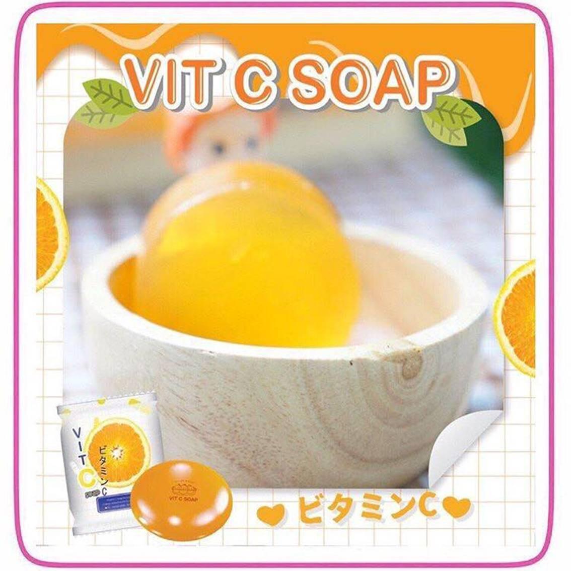 泰國  VIT C SOAP 維C美白橘子淡斑皂 【樂活生活館】▶全館滿499免運