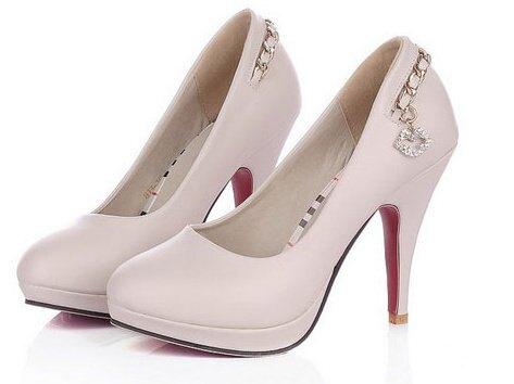 ☆圓頭 高跟鞋 休閒鞋-時尚氣質優雅亮麗女鞋子2色ws58【韓國進口】【米蘭精品】