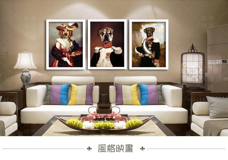 [銀聯網] 酒吧裝飾畫復古創意現代動物掛畫(黑框) 1入