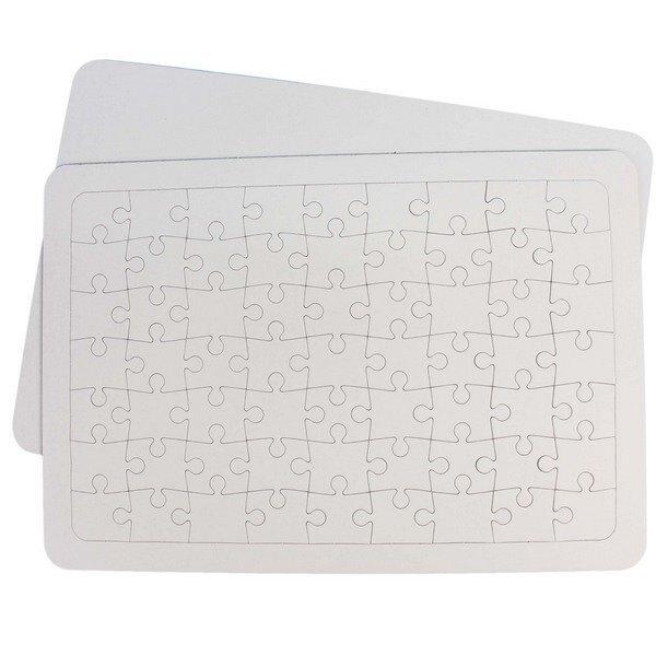 空白拼圖 大63片 彩繪拼圖/一件240個入(定25) DIY拼圖 37.4cm x 25.8cm-AA3059
