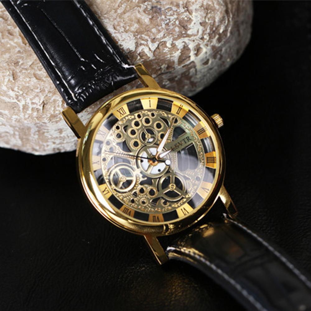 男士新款復古鏤空裝飾手錶女士時尚腕錶情侶款男女式夜光石英錶   全館八五折