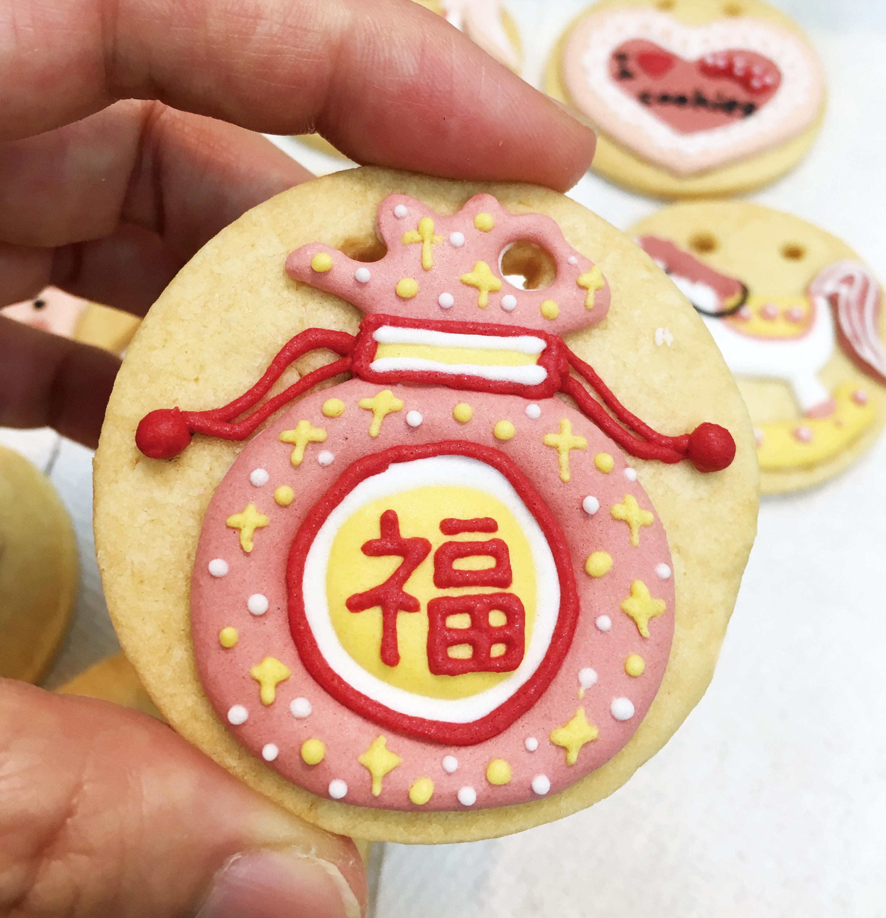 女寶收涎糖霜餅乾12入/組(含運)