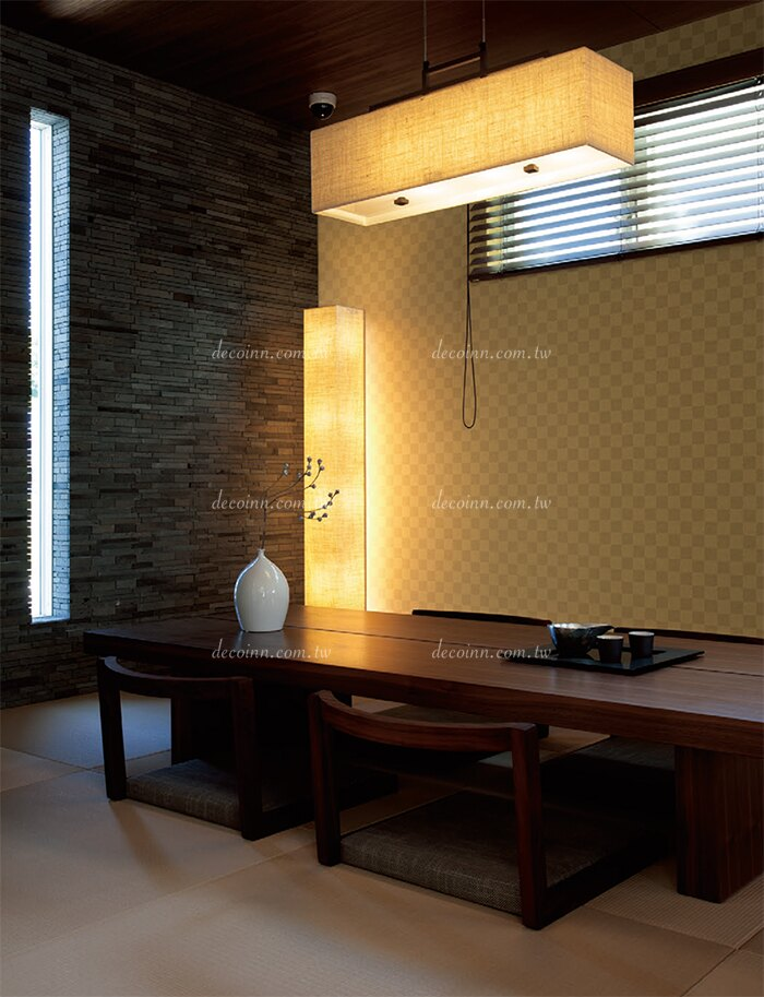 B133B-114 日本壁紙 傳統日式 禪意 方塊 茶室 和室(6色)