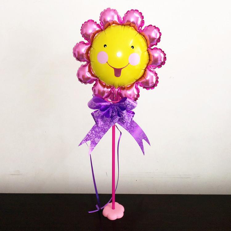 彩虹太陽花氣球桌飄