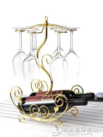 歐式紅酒架擺件創意酒瓶架紅酒杯架倒掛家用簡約葡萄酒架高腳杯架  WD