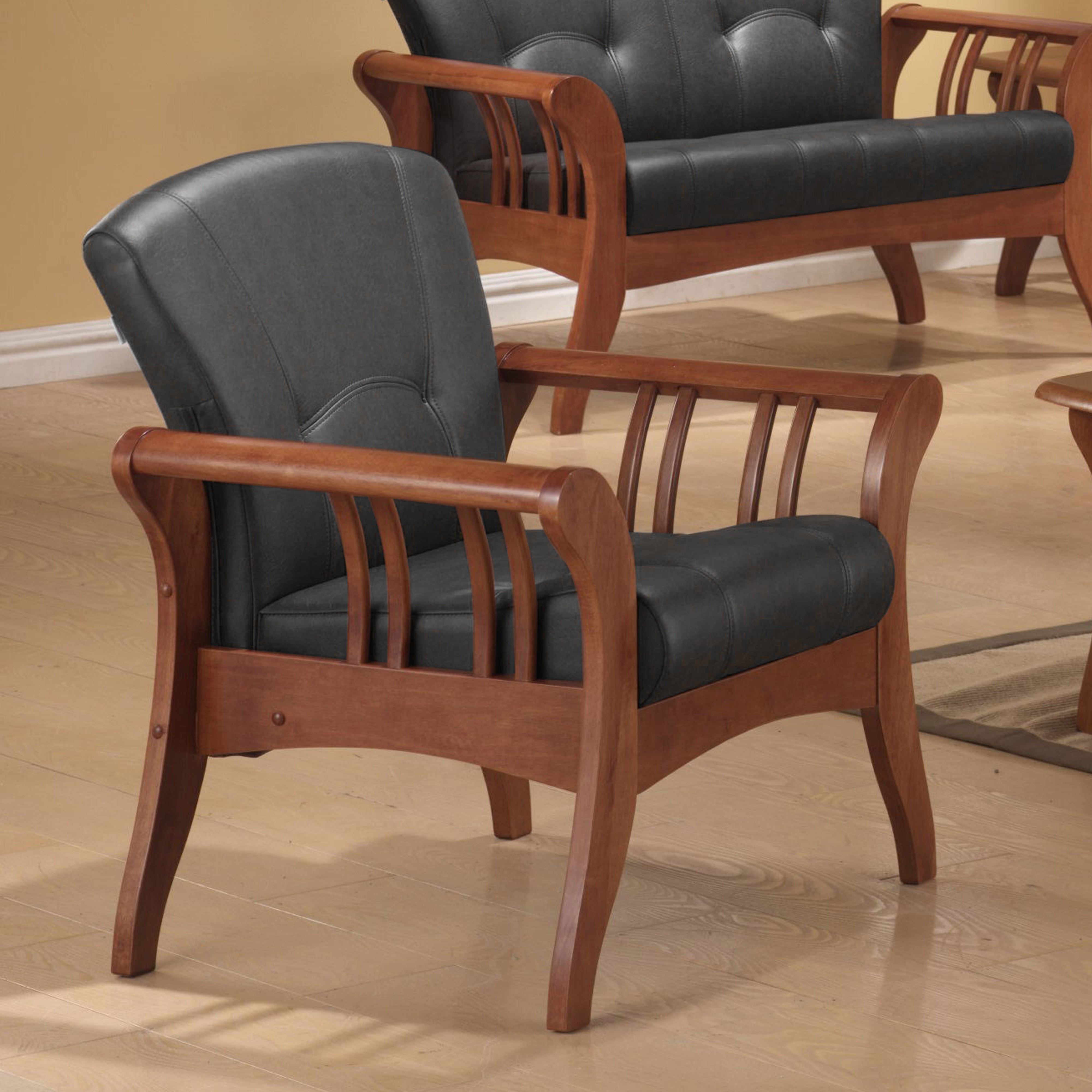 《伊豆》(促銷免運)卡其 ㄧ人沙發 全實木 一人位沙發 一人座 單椅 主人椅 單人椅 皮沙發 木製沙發 !新生活家具! 樂天雙12