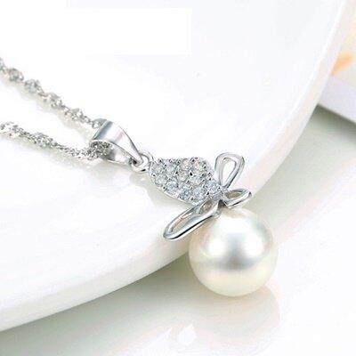 925純銀項鍊 珍珠吊墜-氣質甜美迷人精緻母親節情人節生日禮物女飾品73fy124【獨家進口】【米蘭精品】