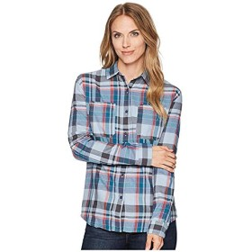[THE NORTH FACE(ザノースフェイス)] レディースウェア・T-シャツ・トレーナー等 Long Sleeve Castleton Shirt Dusty Blue Sierra Plaid XS [並行輸入品]