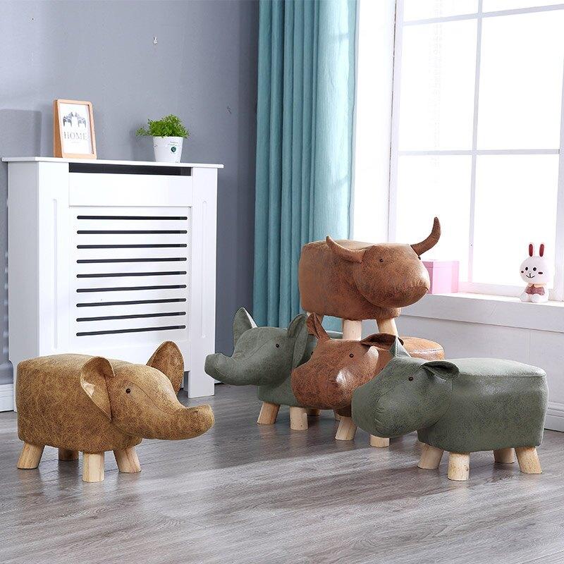 《麗亞》618購物節 618年中慶 動物 椅凳 矮凳 穿鞋凳 腳凳 造型椅 兒童椅 四腳凳 牛 河馬 大象 三色可選 【新生活家具】