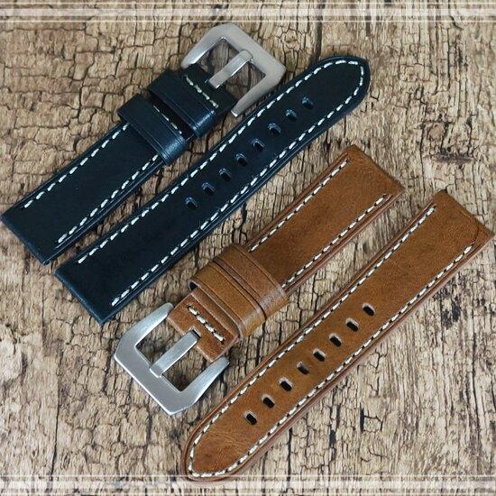 【進口真皮】22mm Samsung Galaxy Watch 46mm/Watch3 45mm/GT2 46mm 智慧手錶錶帶/手錶腕帶用錶帶/帶經典扣式錶環/替換快拆式
